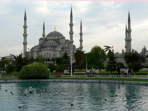 The beautiful Blue Mosque, Istanbul, 2006