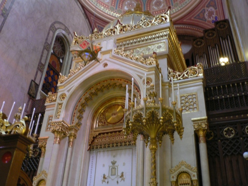 Inside the Dohany Synagogue