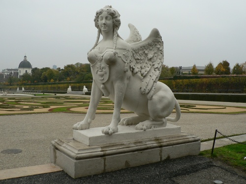 Sphinx outside the Belvedere