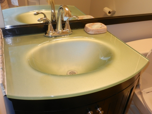 The new sink in the half bath