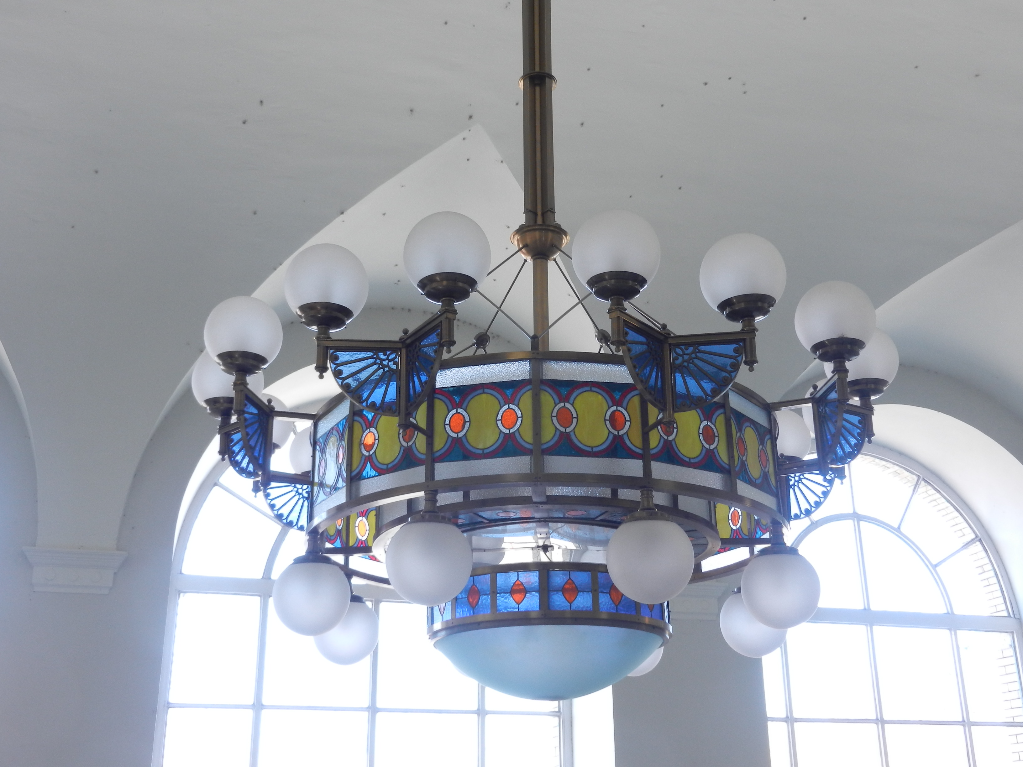 Art nouveau my time to travel light fixture in the train station arubaitofo Image collections