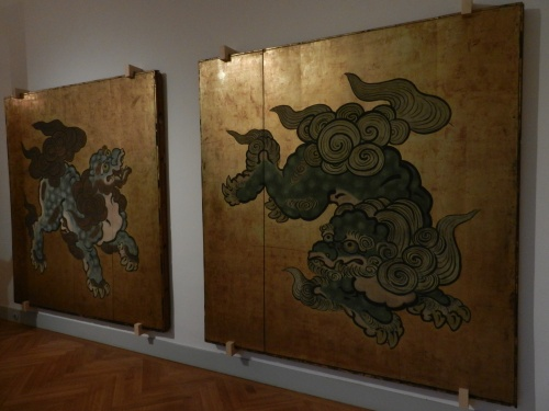 Dragons in the Asian exhibition at the MAK