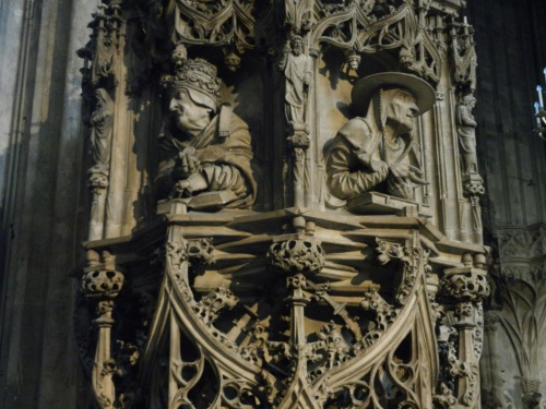 Detail of the pulpit in the cathedral