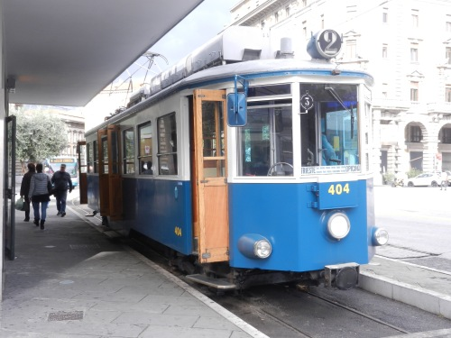 The old-fashioned tram to Villa Opicina